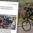 Ponad 30 kolarzy poszkodowanych podczas wyścigu w Luksemburgu