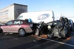 Ponad 40 samochodów zderzyło się na A4 w Gliwicach