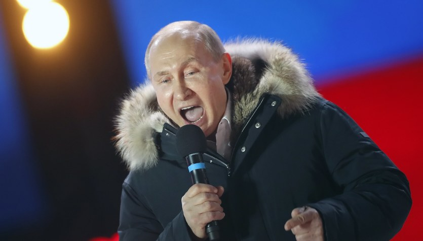 Ponad 76 procent głosów na Putina. Tak dobrego wyniku jeszcze nie miał