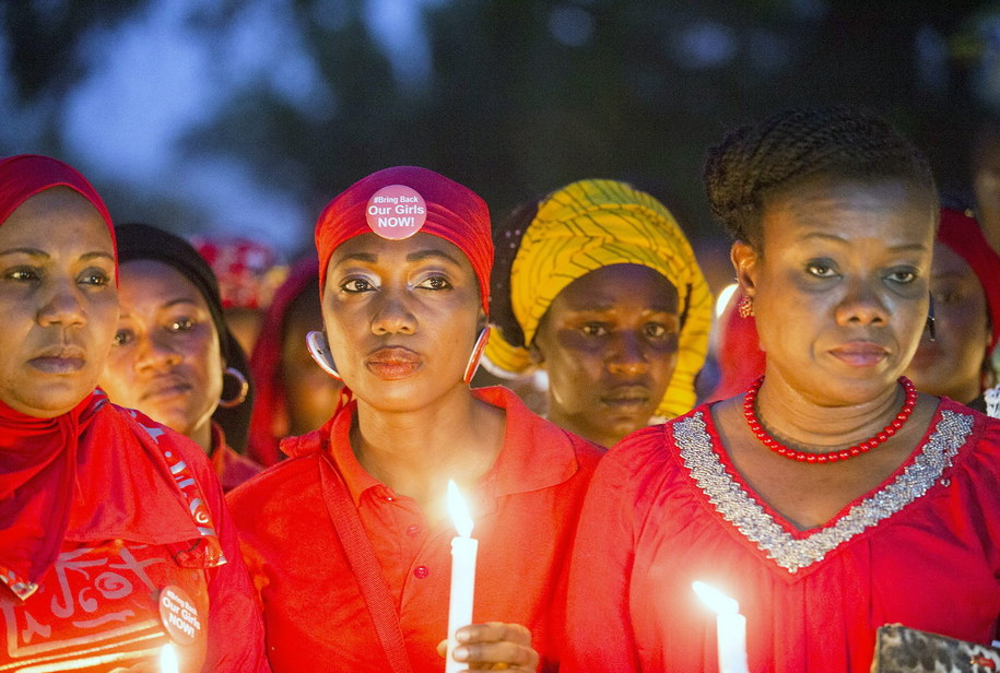 Ponad rok temu bojownicy Boko Haram porwali ponad 200 dziewcząt / TIFE OWALABI    /PAP/EPA