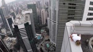 Popisy na szczycie wysokiego budynku