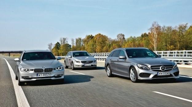 Porównanie: BMW 3 Touring, Mercedes C Kombi, Volvo V60 /Motor