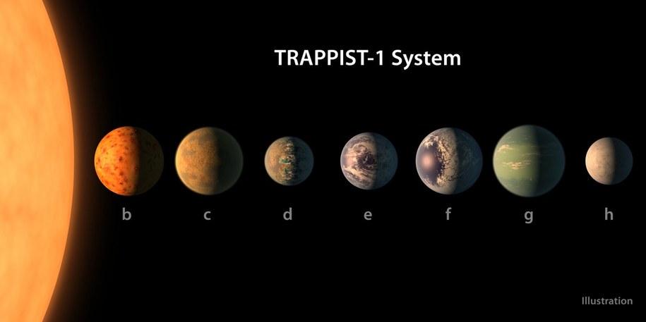 Porównanie rozmiarów planet układu TRAPPIST-1 /NASA/R. Hurt/T. Pyle /materiały prasowe