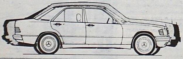 Porównanie sylwetek trzech rodzin pojazdów Mercedes produkowanych równolegle. Różnica długości miedzy najkrótszym I najdłuższym pojazdem wynosi zaledwie 60 cm. /Motor