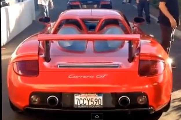 Porsche  Carrera GT na chwilę przed wypadkiem...