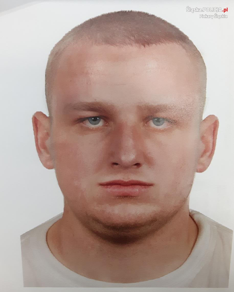 Portret pamięciowy poszukiwanego mężczyzny /slaska.policja.gov.pl /
