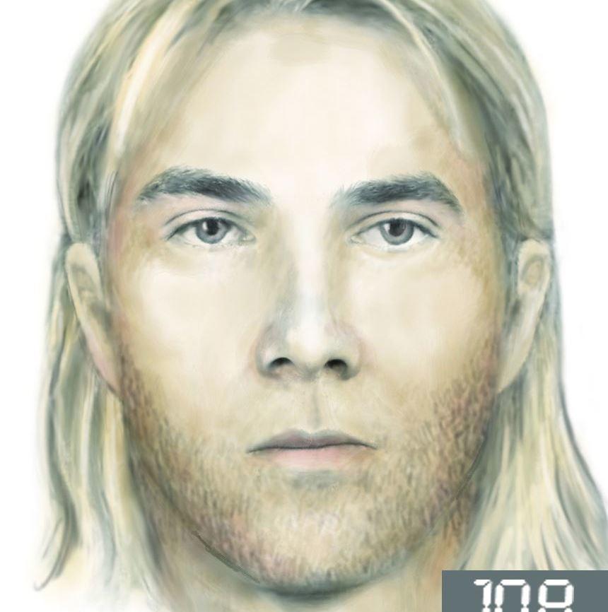 Portret pamięciowy poszukiwanego mężczyzny /Policja