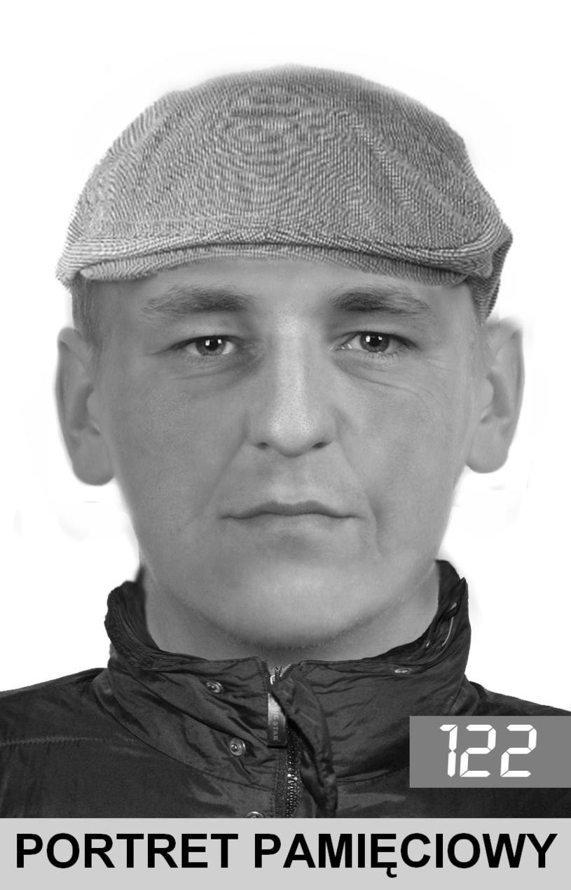 Portret pamięciowy. /Małopolska Policja /Policja