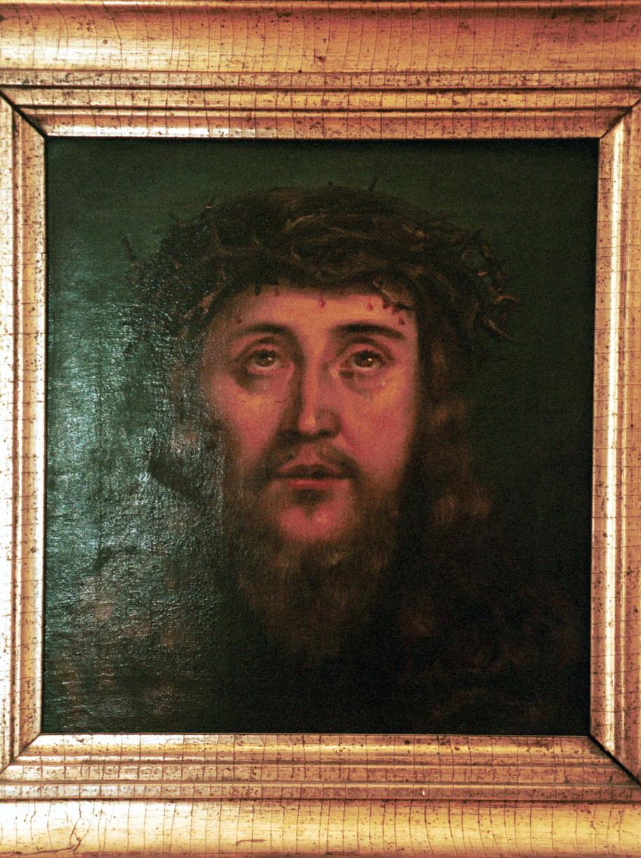 Portret św. Brata Alberta w Muzeum Archidiecezjalnym w Krakowie /Jacek Bednarczyk /PAP