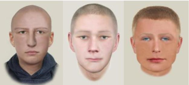 Portrety pamięciowe mężczyzny /Policja
