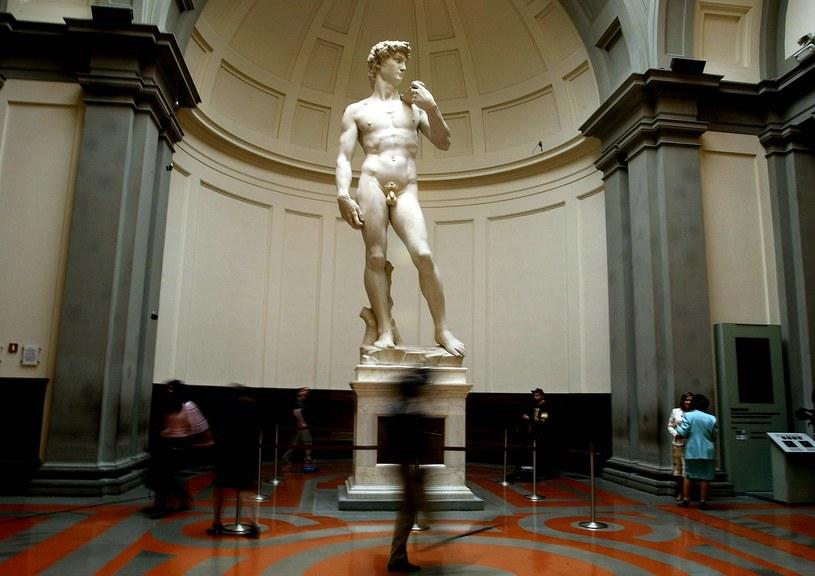 Posąg Dawida w Galerii Akademii /AFP