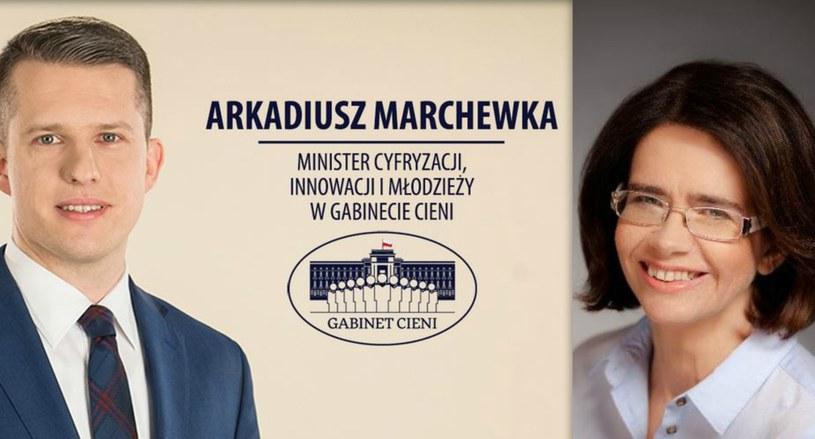 Poseł Arkadiusz Marchewka i minister Anna Streżyńska /Twitter