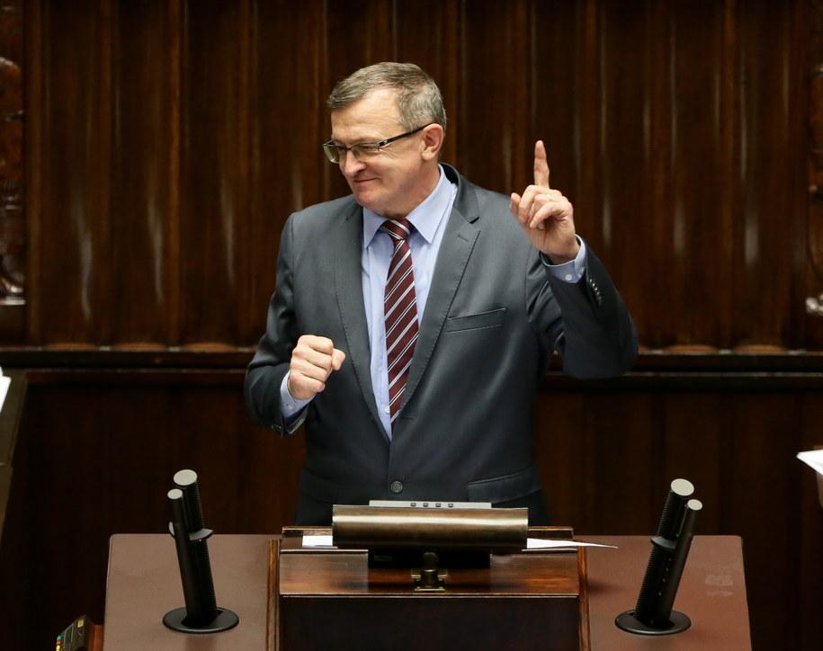 Poseł Tadeusz Cymański w Sejmie /Tomasz Gzell /PAP