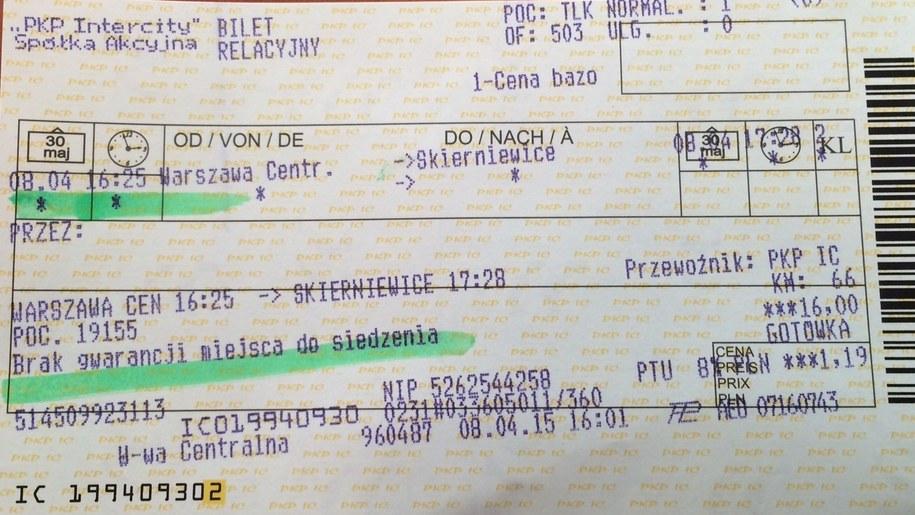 Posiadacze biletów miesięcznych nie mają gwarancji, że podróży nie spędzą na stojąco /Magdalena Gawlik /RMF FM