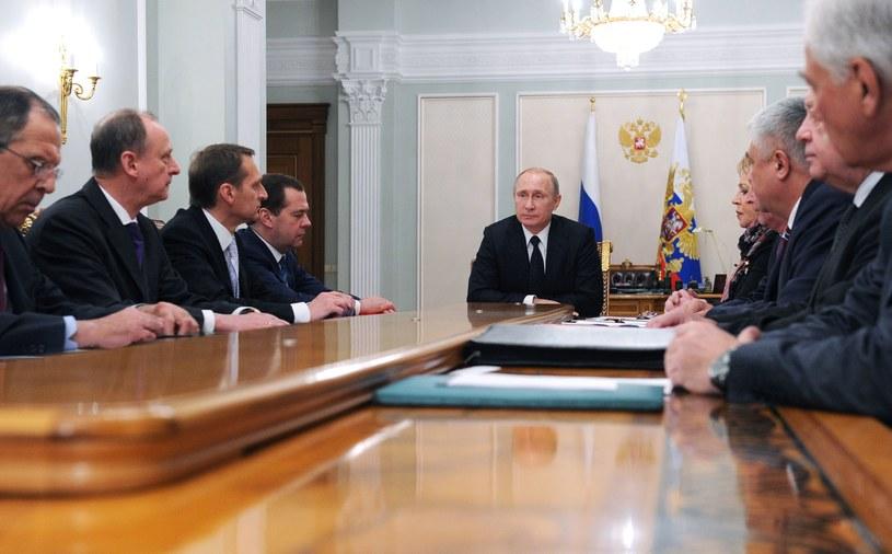 Posiedzenie Rady Bezpieczeństwa Federacji Rosyjskiej /AFP
