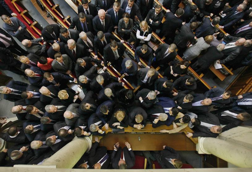 Posiedzenie Rady Najwyższej w Kijowie /PAP/EPA