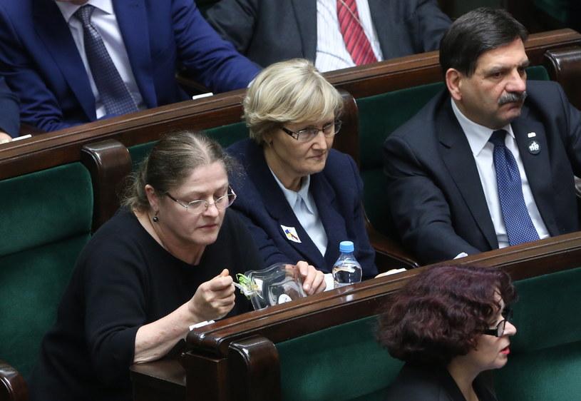 Posłanka Krystyna Pawłowicz na sali obrad Sejmu /Leszek Szymański /PAP