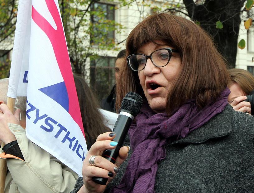 Posłanka Twojego Ruchu Anna Grodzka /Radek Pietruszka /PAP