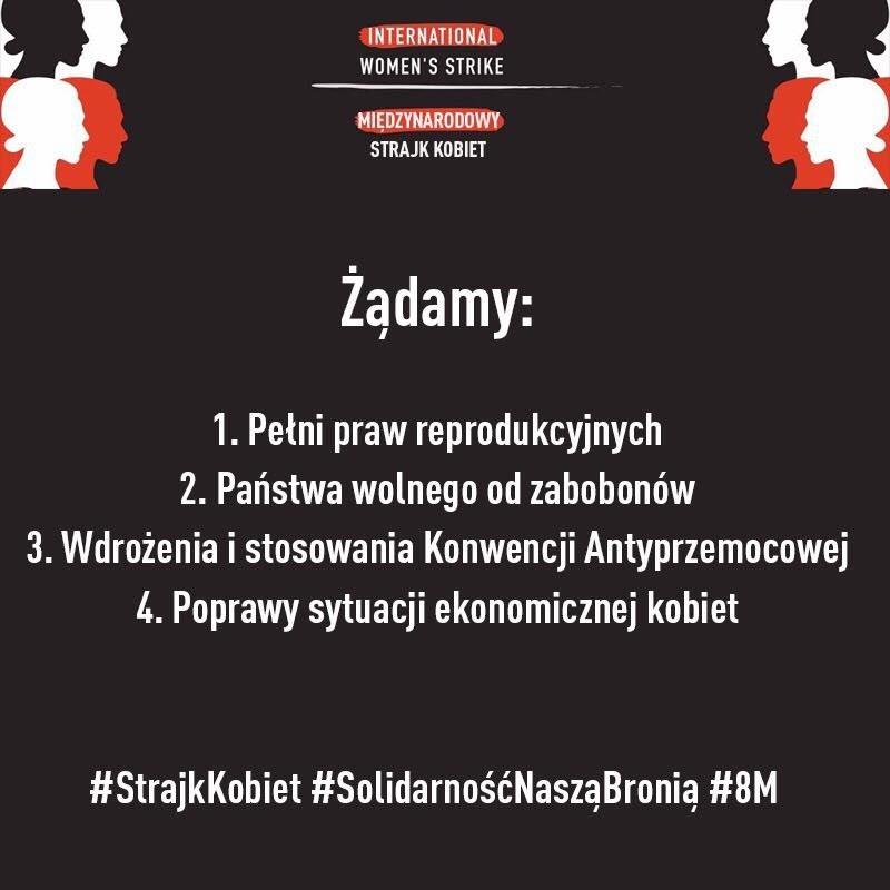 Postulaty Polek stworzone w ramach Międzynarodowego Strajku Kobiet /Ola Jasionowska /materiały prasowe