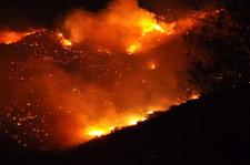 Potężny pożar na greckiej wyspie