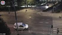 Potrącenie pieszej na przejściu