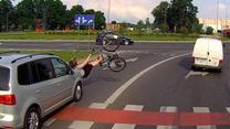 Potrącenie rowerzystki na przejeździe