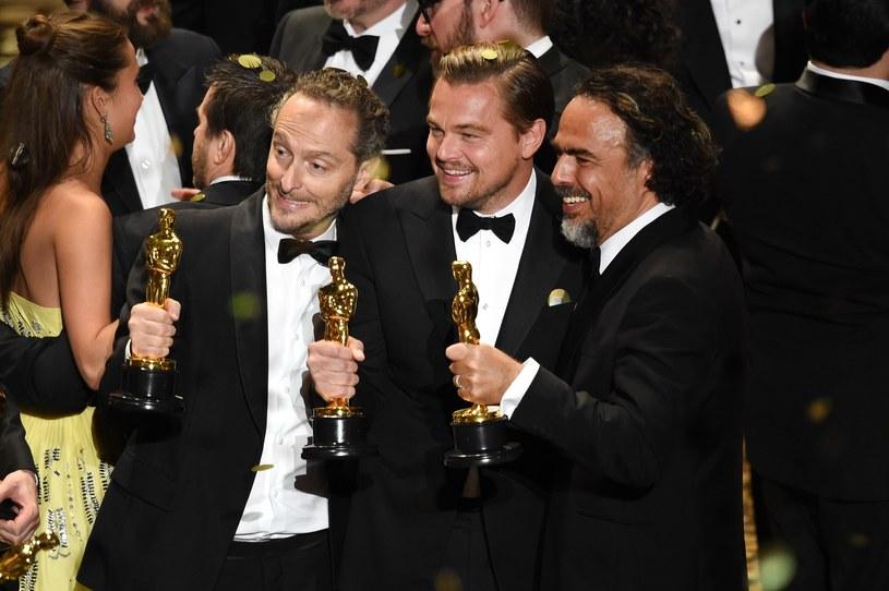"""Potrójny Oscar dla """"Zjawy"""": Lubezki, DiCaprio, Inarritu /AFP"""
