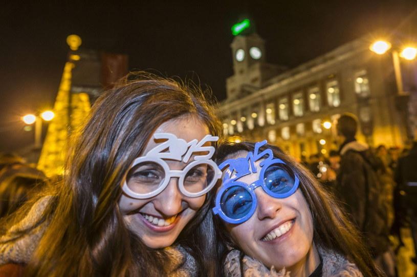 Powitanie 2015 roku w Madrycie /PAP/EPA