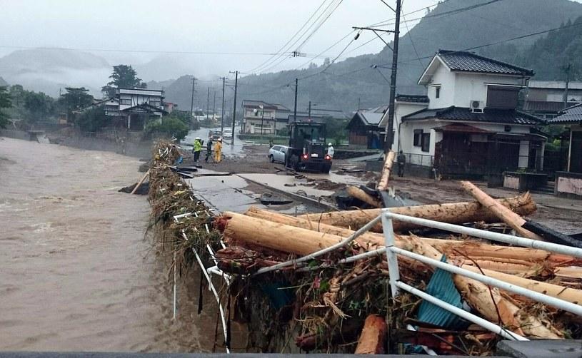 Powódź w Japonii /PAP/EPA/DEFENSE MINISTRY OF JAPAN / HANDOUT /PAP/EPA