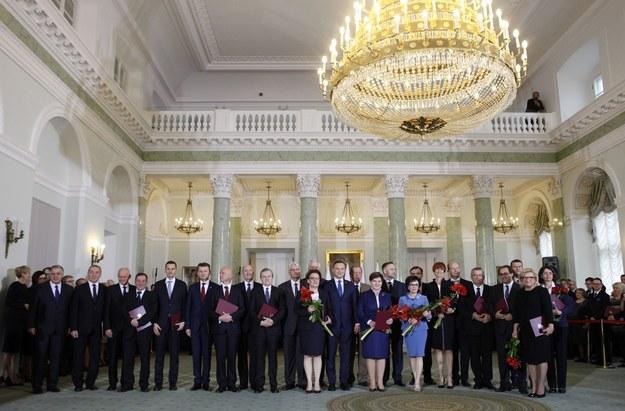 Powołanie Rady Ministrów pod przewodnictwem premier Beaty Szydło (16.11.2015 r.). Fot. Stefan Maszewski /Reporter