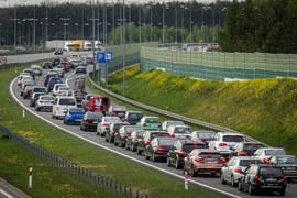Powrót z majówki: Korki na autostradzie A1