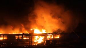 Pożar budynku socjalnego w Koszalinie
