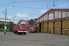 Pożar dawnej zajezdni we Wrocławiu