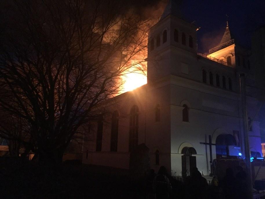 Pożar kościoła w Braniewie /Gorąca Linia - RMF FM /Gorąca Linia RMF FM