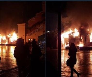 Pożar na Rynku Głównym w Krakowie