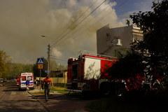 Pożar na warszawskiej Pradze Południe
