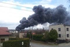 Pożar pralni na granicy Będzina i Sosnowca