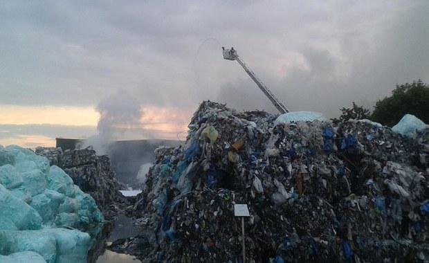 Pożar składowiska odpadów w Skawinie