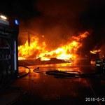 Pożar sortowni śmieci w Warszawie