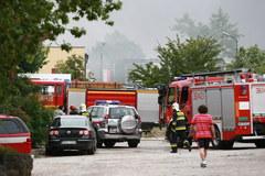 Pożar stacji paliw w Płocku