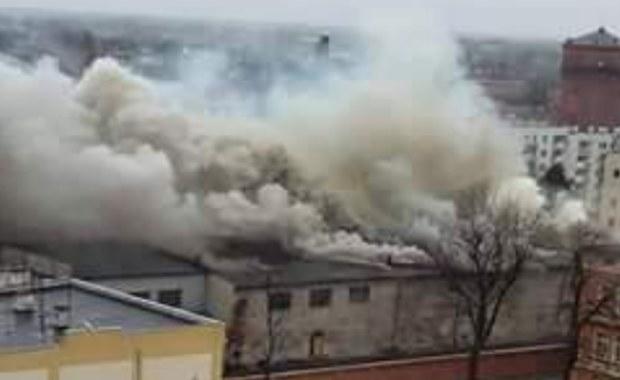 Pożar starego browaru w Brzegu
