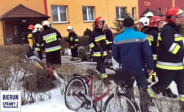 Pożar w Bieruniu. Wśród poszkodowanych są dzieci
