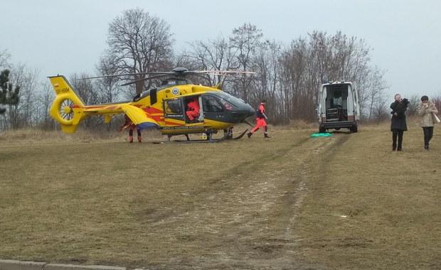 Pożar w bloku w Olkuszu, 1 osoba ranna