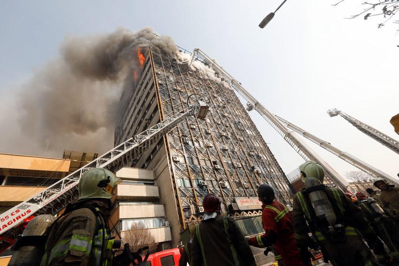 Pożar w centrum Teheranu /AFP