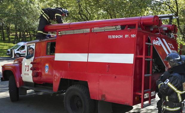 Pożar w jednym z budynków należących do rosyjskiego wywiadu