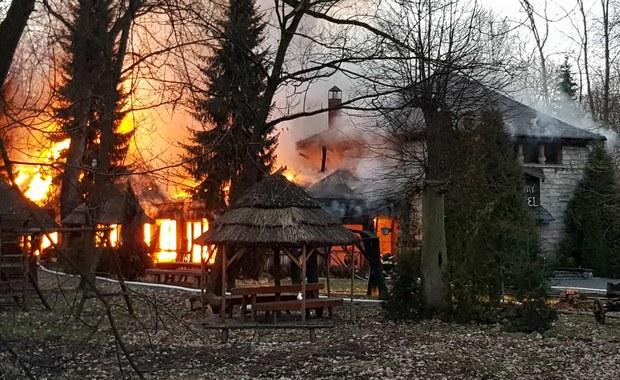 Pożar w Parku Śląskim w Chorzowie. W płomieniach stanęła restauracja