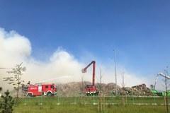 Pożar w składowisku śmieci w Olsztynie