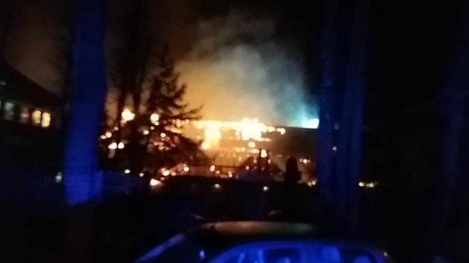 Pożar zakładu przyrodoleczniczego /Gorąca Linia RMF FM