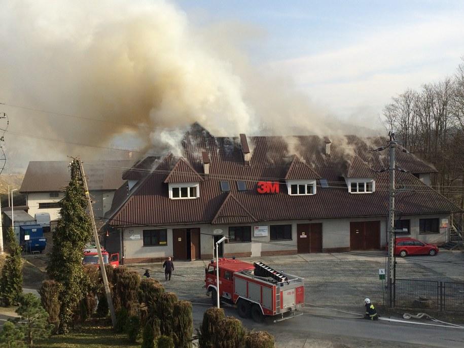 Pożar zakładu w Skomielnej Białej /Gorąca Linia RMF FM /Gorąca Linia RMF FM