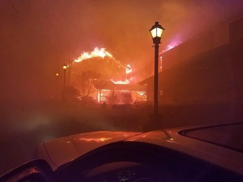 Pożary w amerykańskim stanie Tennessee /PAP/EPA